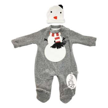 ست 2 تکه لباس نوزادی مای میو طرح پنگوئن کد L9710.3 |