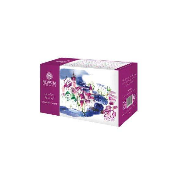 چای کیسه ای کرن بری نیوشا مدل Cranberry بسته 20 عدد