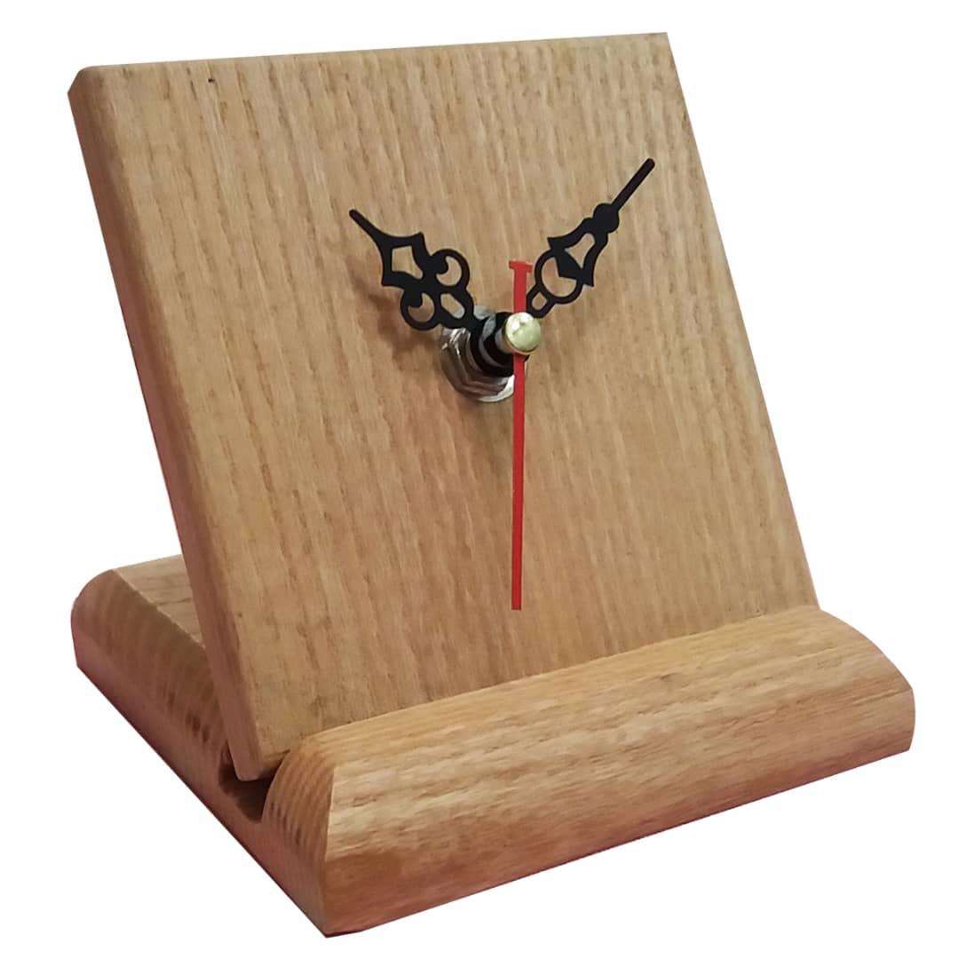 ساعت رو میزی چوبی کد 2