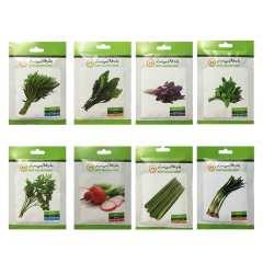 بذر سبزی خوراکی بذر طلایی برتر کد P-S-BZT-08 مجموعه 8 عددی