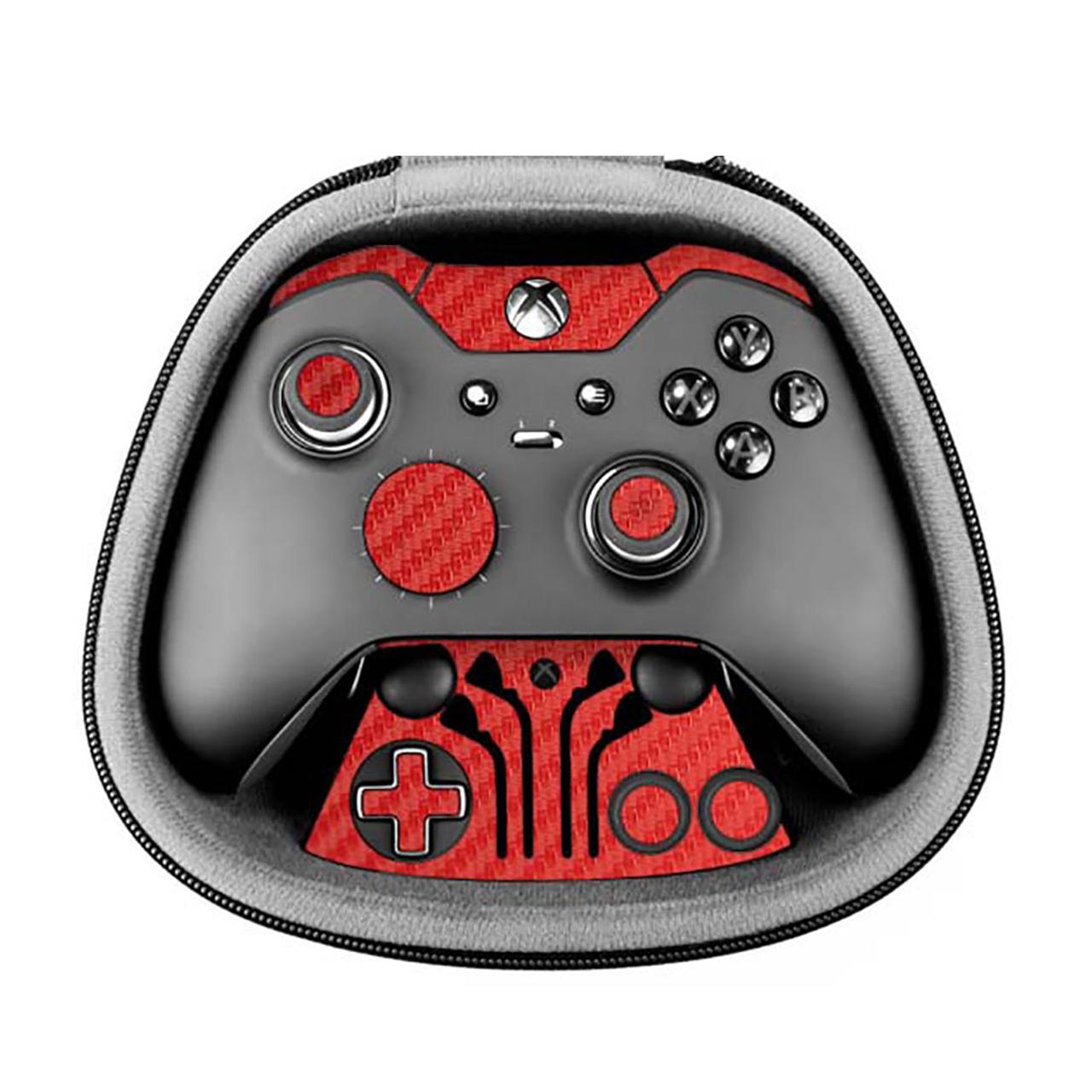 برچسب طرح فیبر-قرمز ماهوت مناسب برای دسته کنترل بازی مایکروسافت Elite Xbox One controller