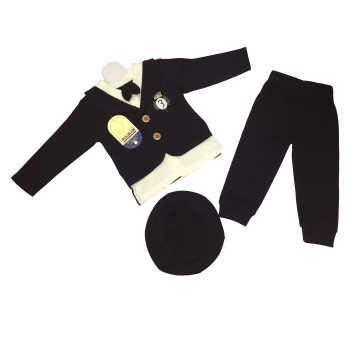 ست 3 تکه لباس نوزادی پسرانه گلیران طرح دانشجو مدل 4004 |
