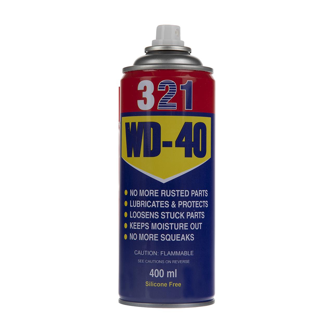 اسپری روان کننده و زنگ بر مدل WD-40  حجم 400 میلی لیتر