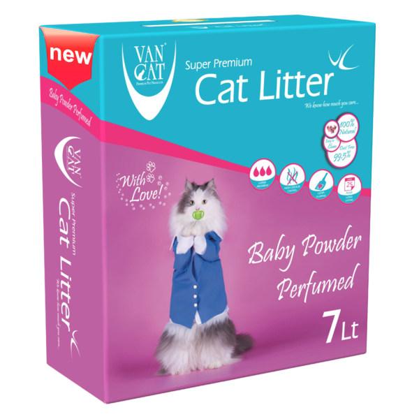 خاک گربه ون کت مدل Baby Powder حجم 7 لیتر