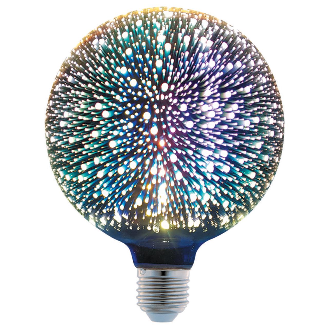لامپ ال ای دی تزئینی 4 وات پارس شهاب مدل 3D پایه E27