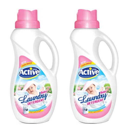 مایع لباسشویی اکتیو مدل white Baby مجموعه 2 عددی