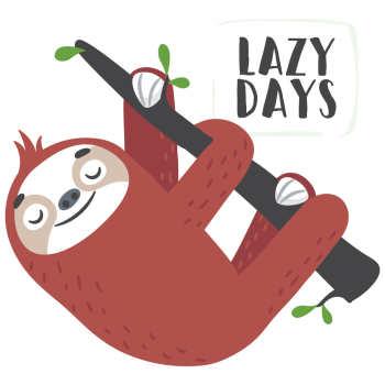 استیکر لپ تاپ وی وین آرت طرح Lazy Days کد P25