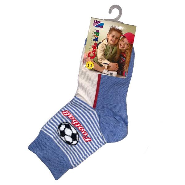 جوراب پسرانه کنته کیدز طرح توپ فوتبال رنگ آبی