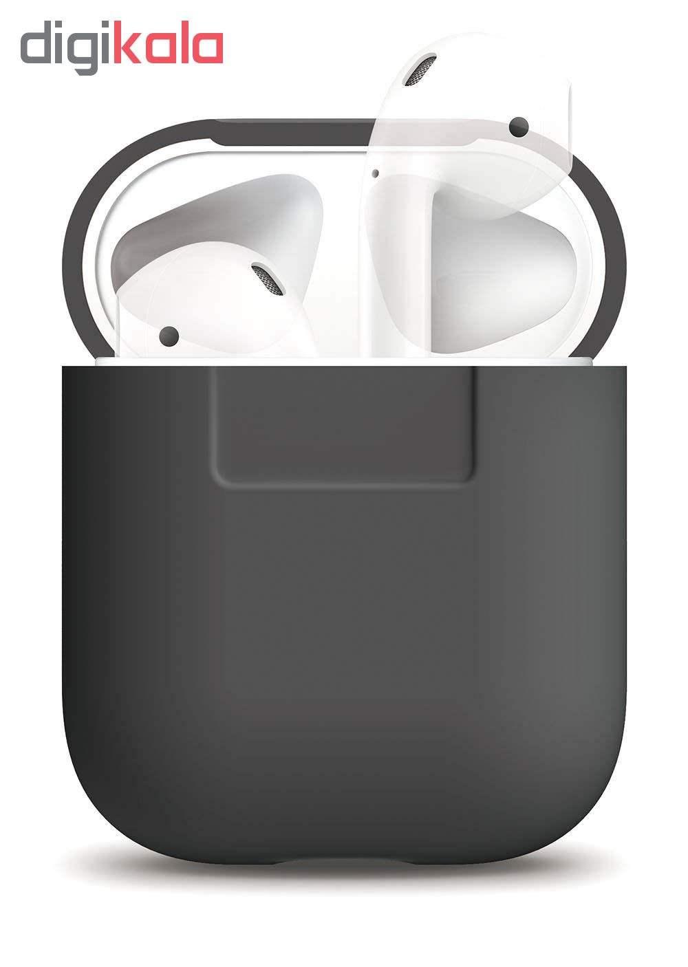 کاور محافظ سیلیکونی الاگو مناسب برای کیس هدفون اپل AirPods main 1 6