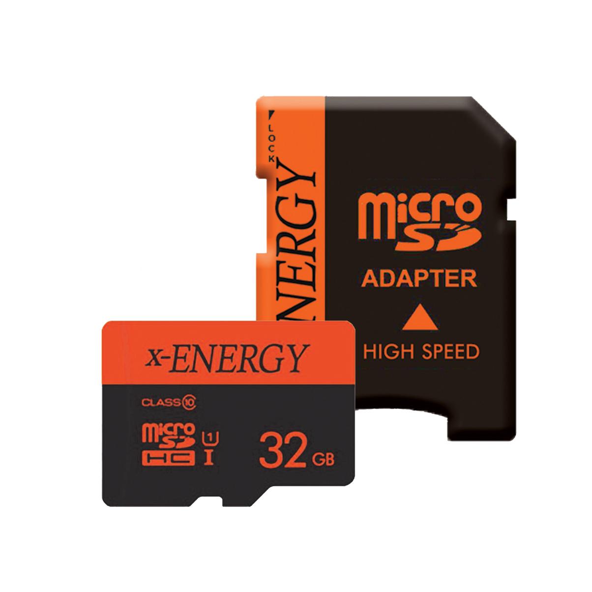 کارت حافظه microSDHC ایکس-انرژی مدل IPM کلاس 10 استاندارد U1 سرعت 80MBps ظرفیت 32 گیگابایت همراه با آداپتور SD