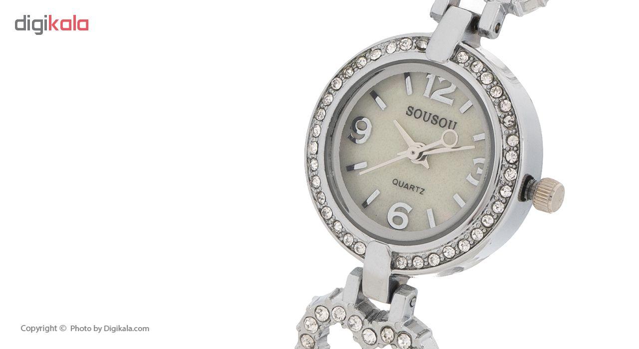 ساعت مچی عقربه ای زنانه سوسو مدل 03