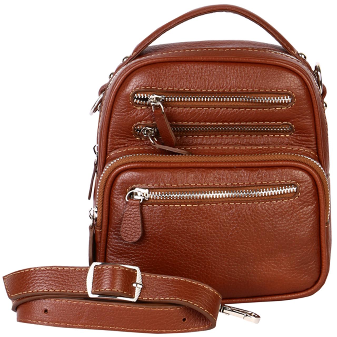 کیف دوشی رویال چرم کد W59-Brown