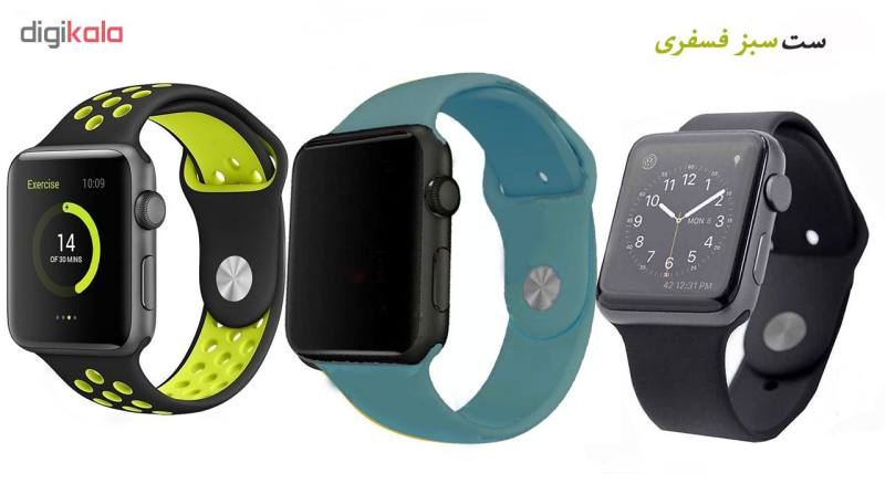 ساعت هوشمند مدل  iWO-s  همراه دو بند اضافه نایک و محافظ صفحه نمایش و بگ شیدتگ main 1 10