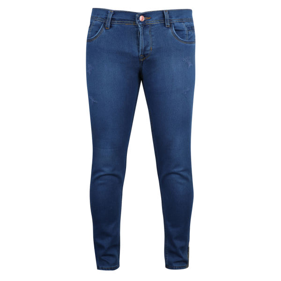 تصویر شلوار جین مردانه مدل M0014 رنگ آبی تیره