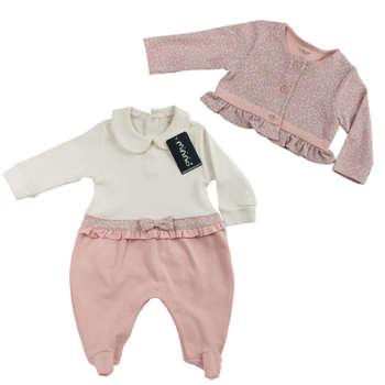 ست 2 تکه لباس نوزادی دخترانه  مینینیو مدل 2405 |