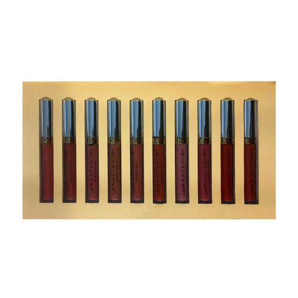 رژ لب مایع آناستازیا مدل Attractive Lip M02 مجموعه 10 عددی