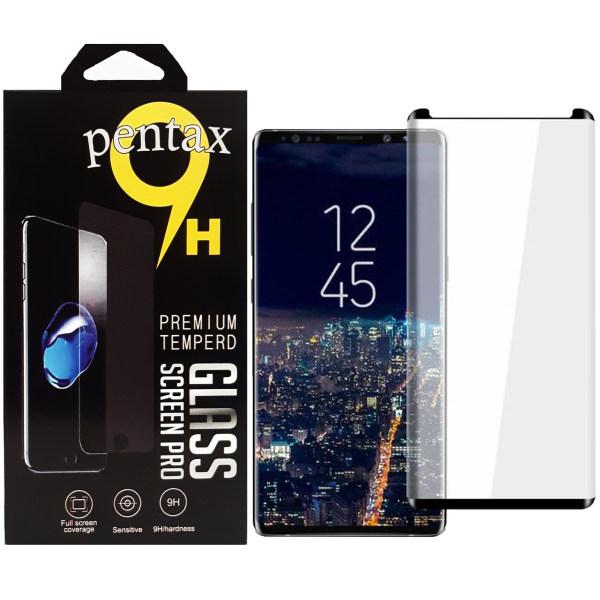 محافظ صفحه نمایش پنتاکس مدل فول چسب مناسب برای گوشی موبایل سامسونگ GALAXY NOTE 9