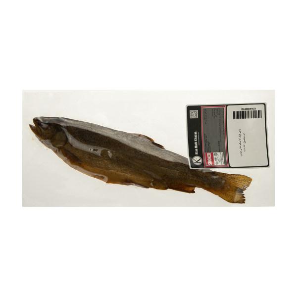 ماهی قزل آلا شکم خالی دودی کیان ماهی خزر مقدار 250 گرم