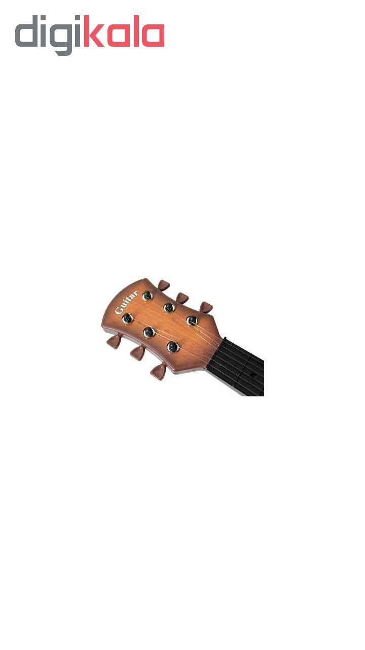 گیتار اسباب بازی مدل کلاسیک کد 3 به همراه یک عدد ناخنگیر مدل عروسکی
