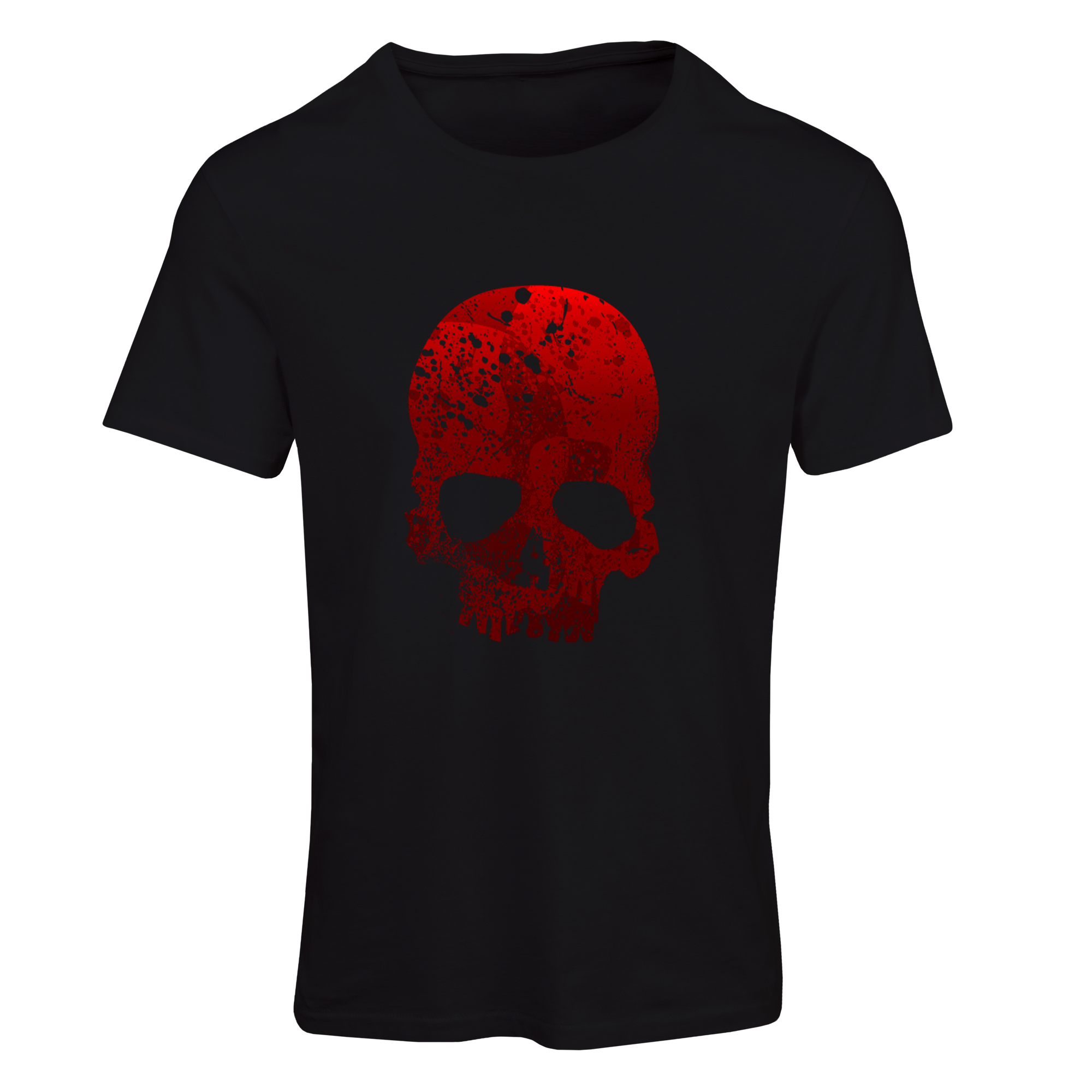 تیشرت آستین کوتاه مردانه طرح اسکلت کد SB198 رنگ مشکی