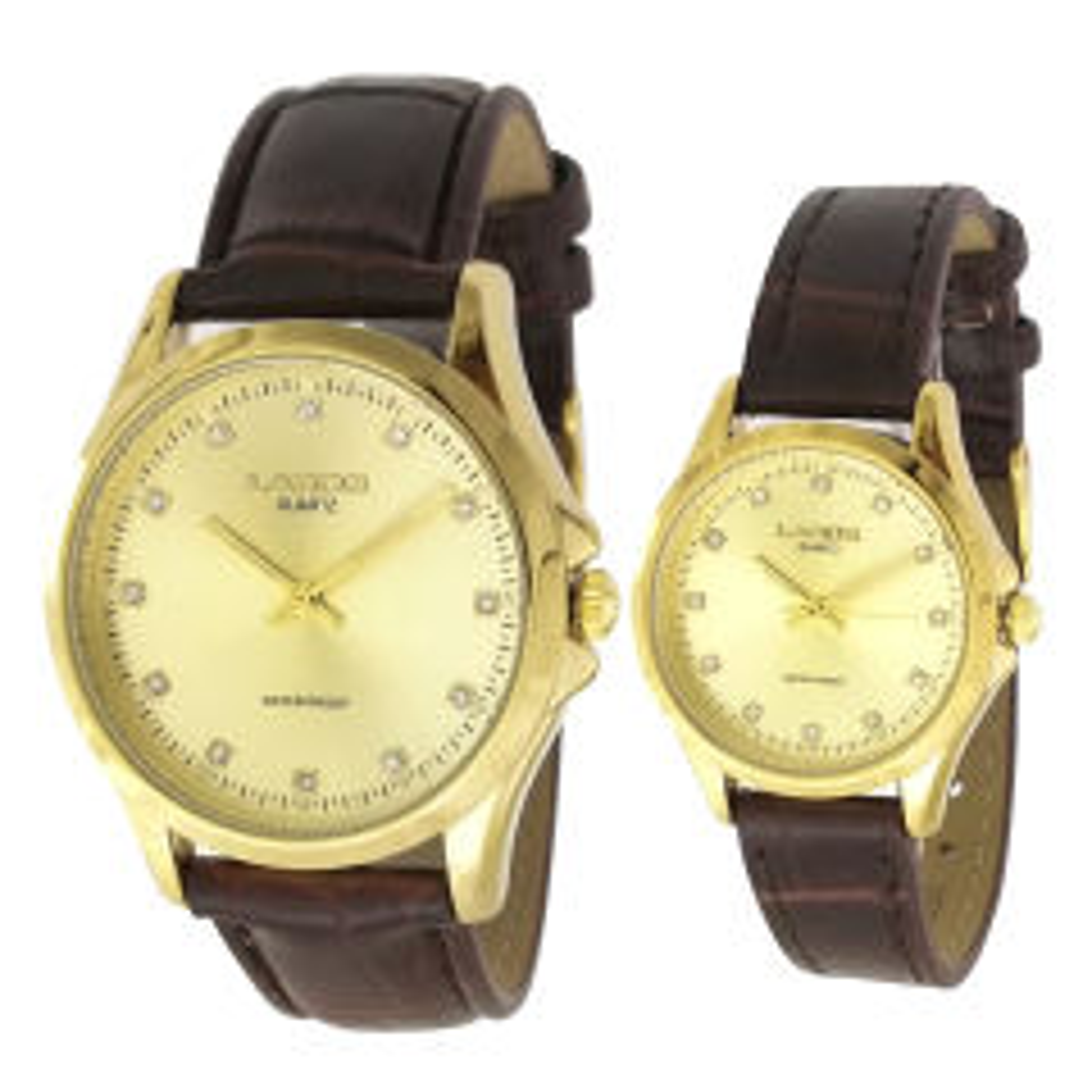 ست ساعت مچی عقربه ای زنانه مردانه لاروس مدل 0118-80227-s  به همراه دستمال مخصوص برند کلین واچ 15