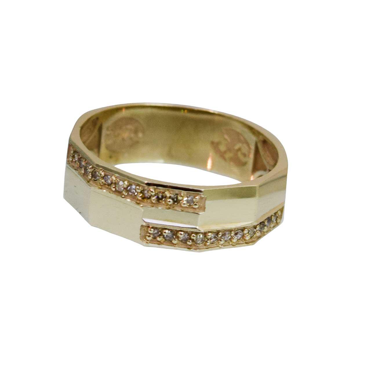 انگشتر طلا 18 عیار جواهر کانیار گالری مدل AG3