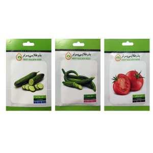 بذر خیار و گوجه بذر طلایی برتر کد P-KHG-BZT-03 مجموعه 3 عددی