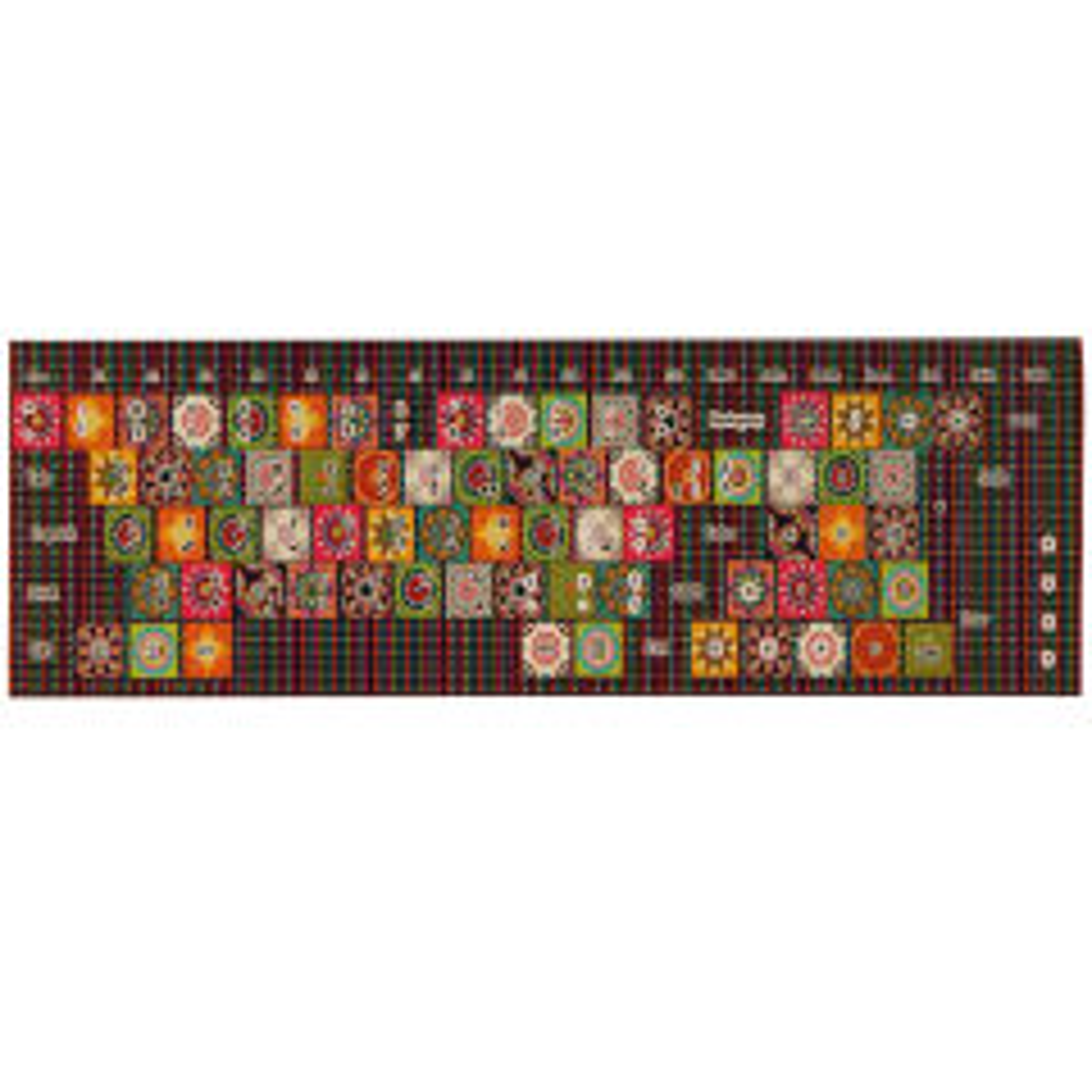 برچسب حروف فارسی کیبورد طرح سنتی کد 002