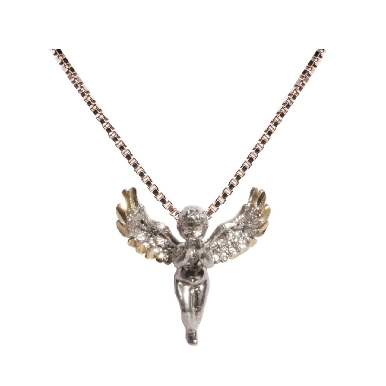 گردنبند فرشته نقره کد 158