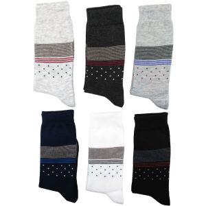 جوراب مردانه نانو گلکار مدل لاینست مجموعه 6 عددی کد 14