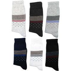 جوراب مردانه نانو گلکار مدل لاینست مجموعه 12 عددی کد 14