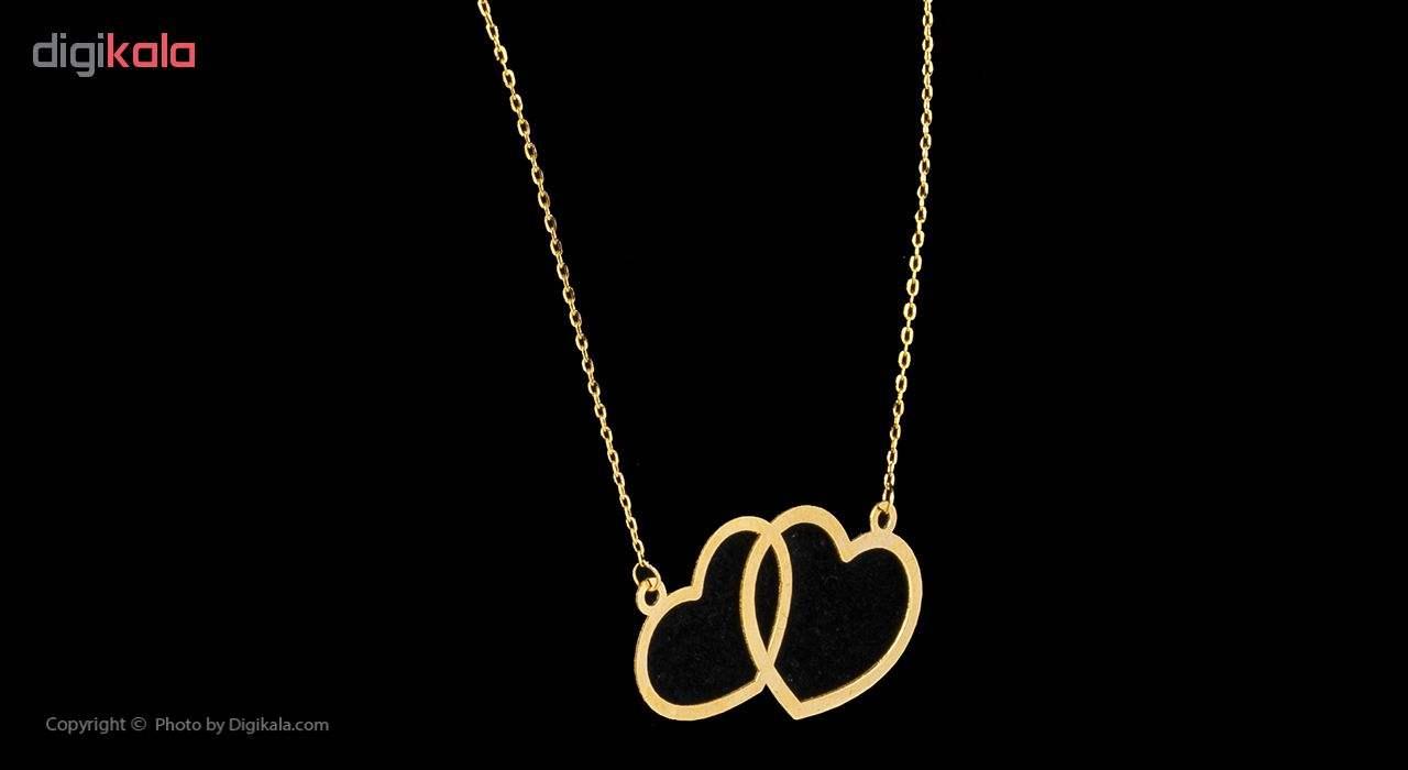 گردنبند طلا 18 عیار زنانه مایا ماهک مدل MM0910 -  - 2
