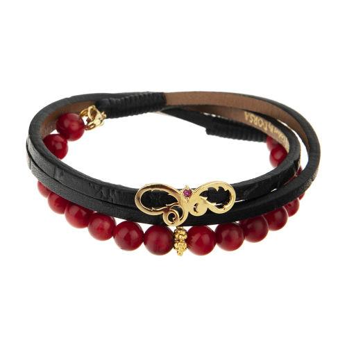 دستبند طلا 18 عیار زنانه تاج درسا مدل 141