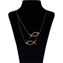 قیمت گردنبند طلا 18 عیار زنانه مایا ماهک مدل MM0899