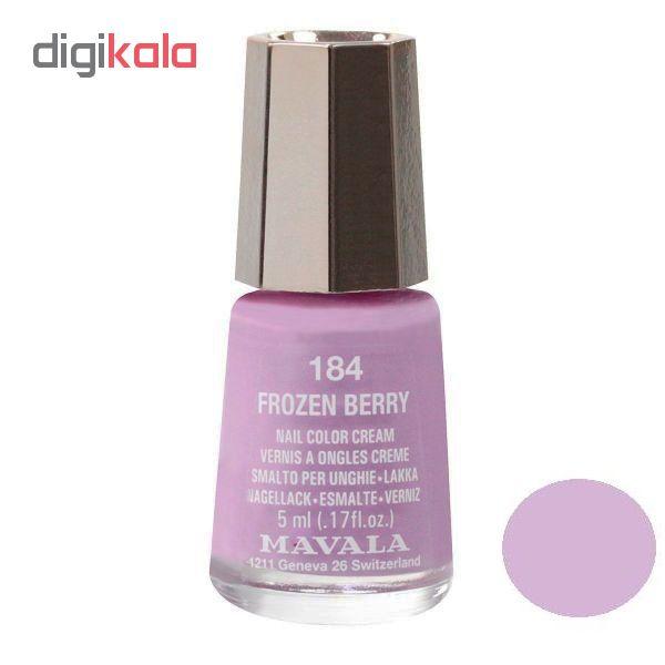 لاک ناخن ماوالا مدل Frozen berry شماره 184