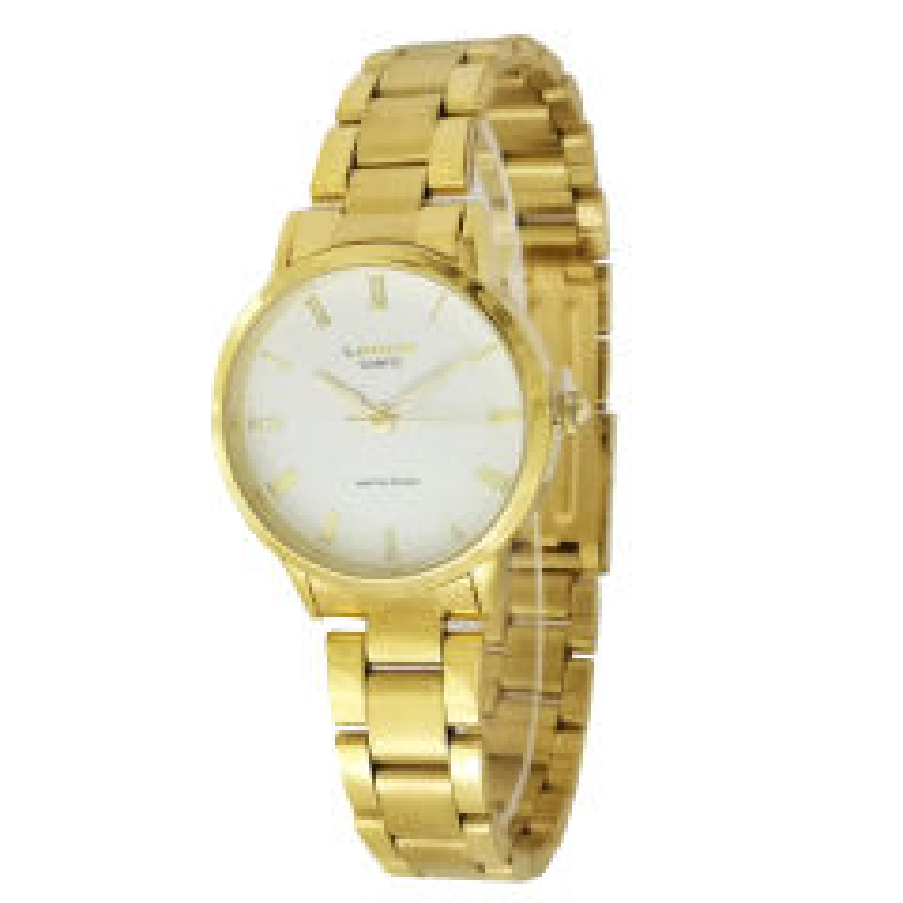 ساعت مچی عقربه ای زنانه لاروس مدل  0118-80208 به همراه دستمال مخصوص برند کلین واچ