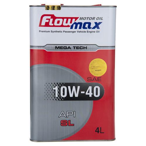 روغن موتور خودرو فلومکس مدل Mega Tech 10w-40 حجم 4 لیتری