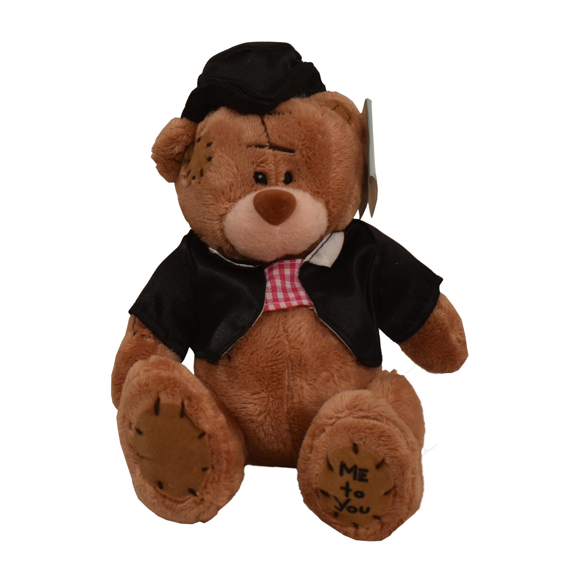 عروسک می تو یو طرح خرس داماد ارتفاع 15 سانتی متر