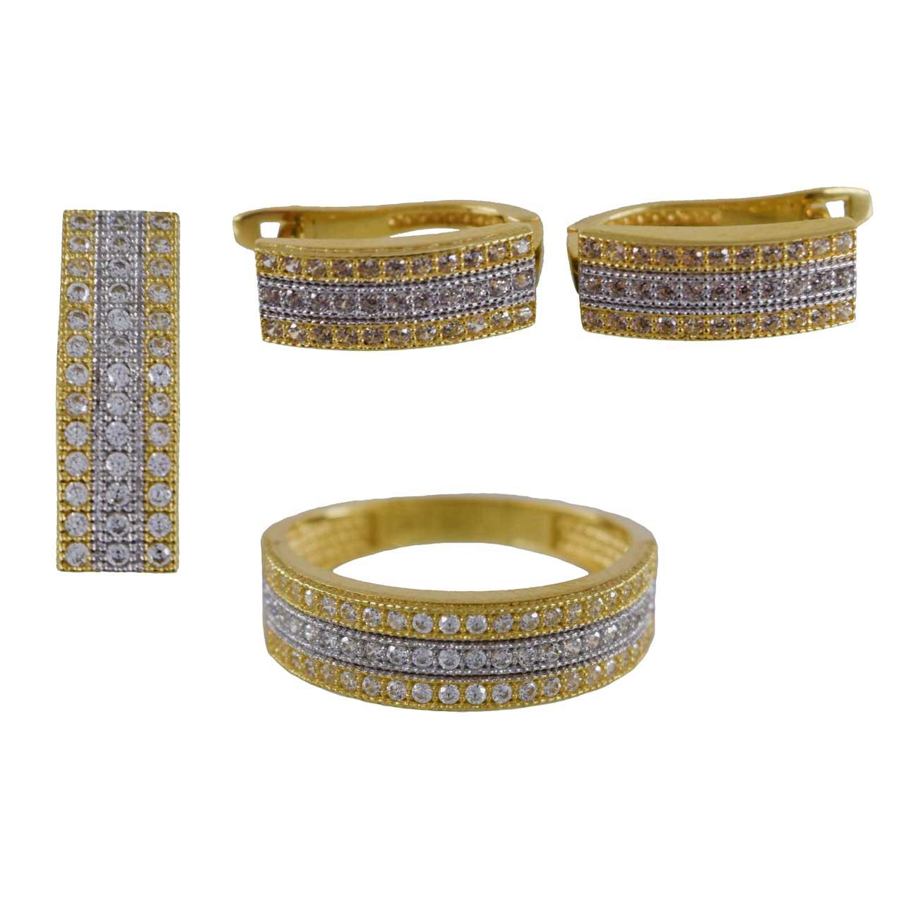 قیمت نیم ست طلا 18 عیار کانیار گالری مدل N542