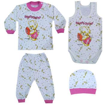 ست 4 تکه لباس نوزادی کد 10-6 |
