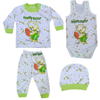 ست 4 تکه لباس نوزادی کد 10-14 |