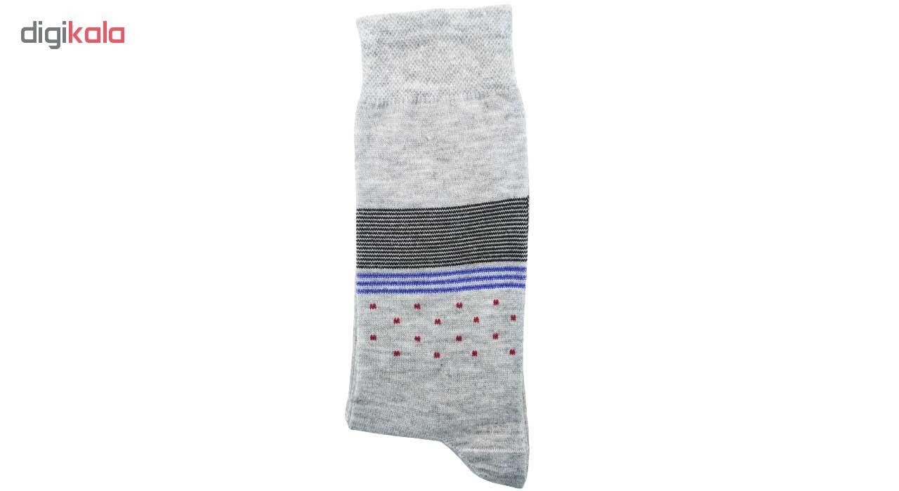 جوراب مردانه نانو گلکار مدل لاینست مجموعه 6 عددی کد 14 thumb 4