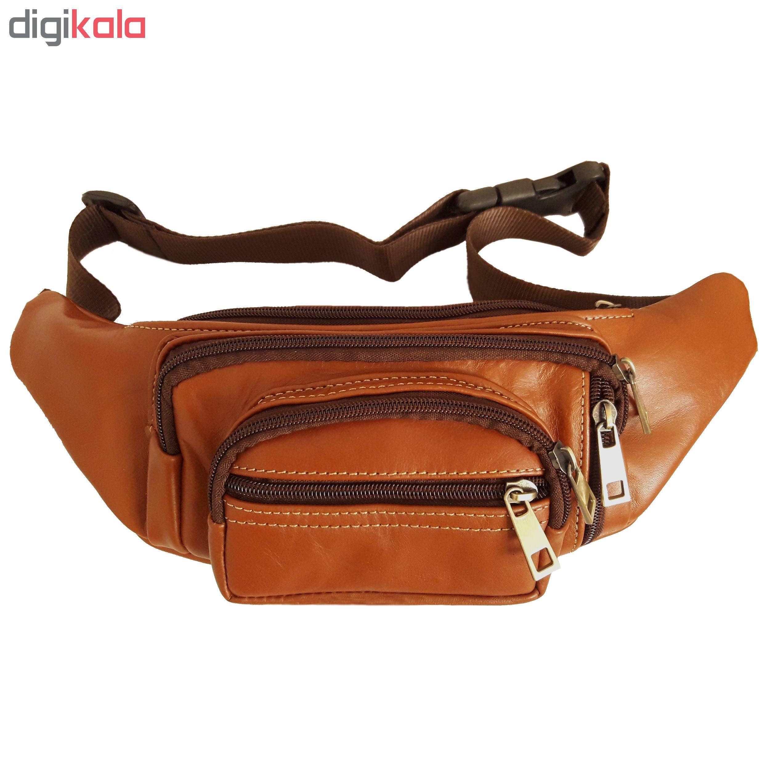کیف کمری چرم طبیعی کد 006