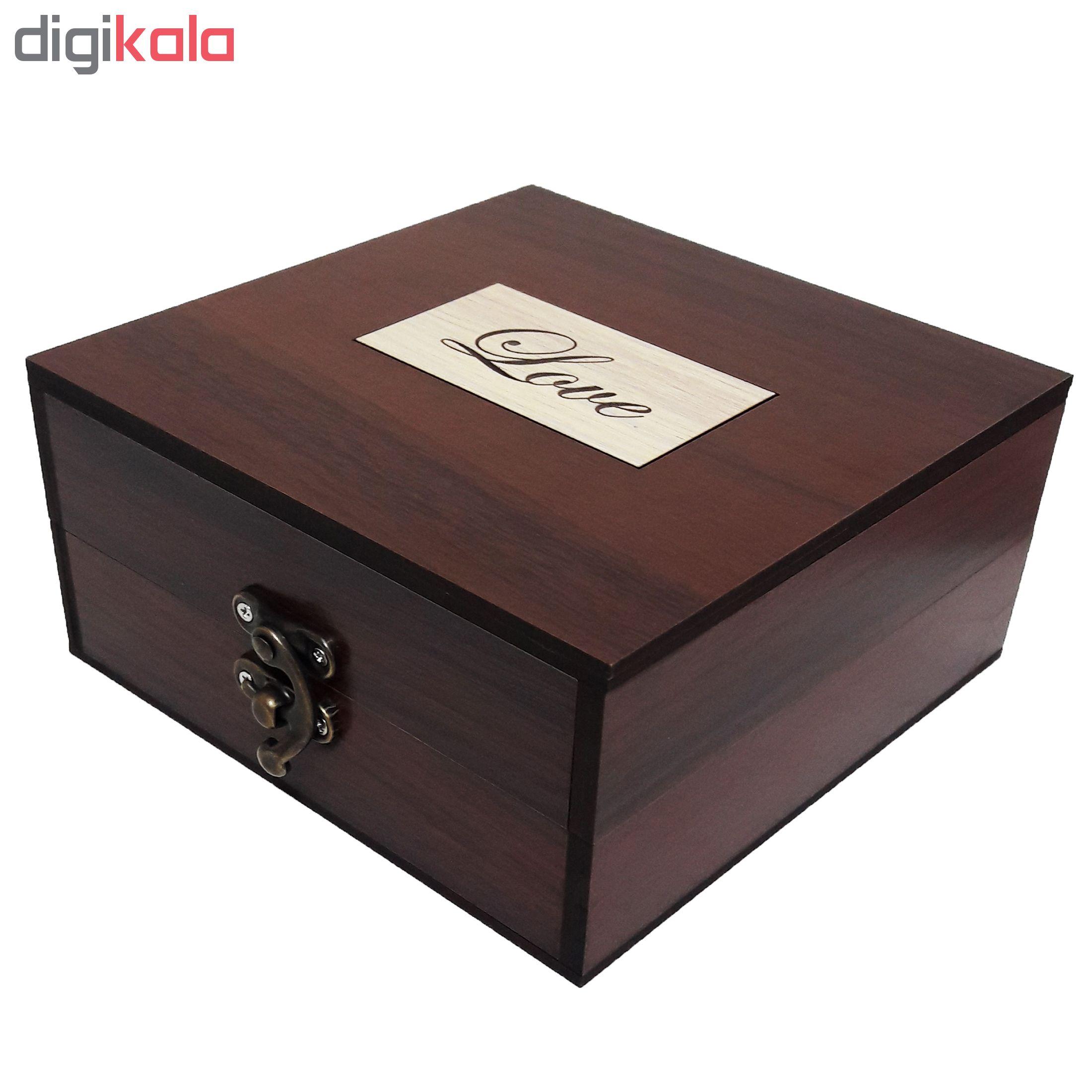 خرید                      جعبه هدیه چوبی مدل 40