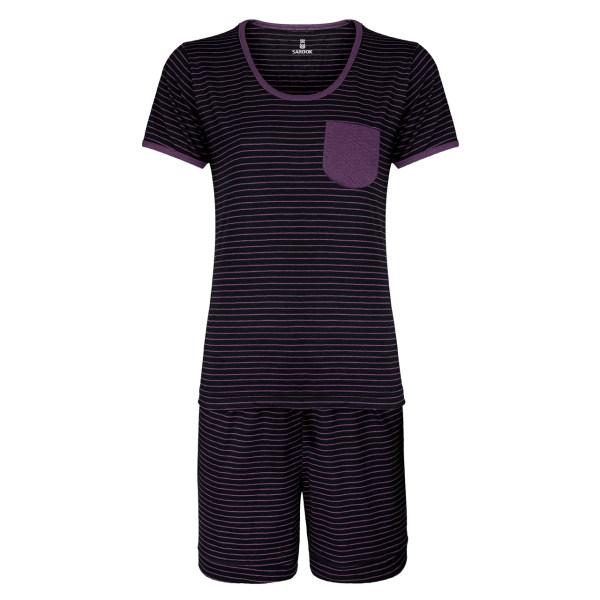 ست تی شرت و شلوارک زنانه ساروک کد 23 رنگ بنفش