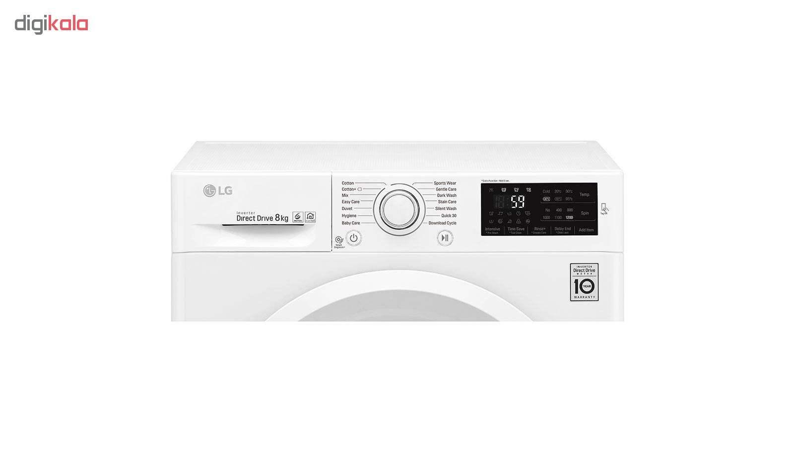 ماشین لباسشویی ال جی مدل WM-821NW ظرفیت 8 کیلوگرم thumb 2