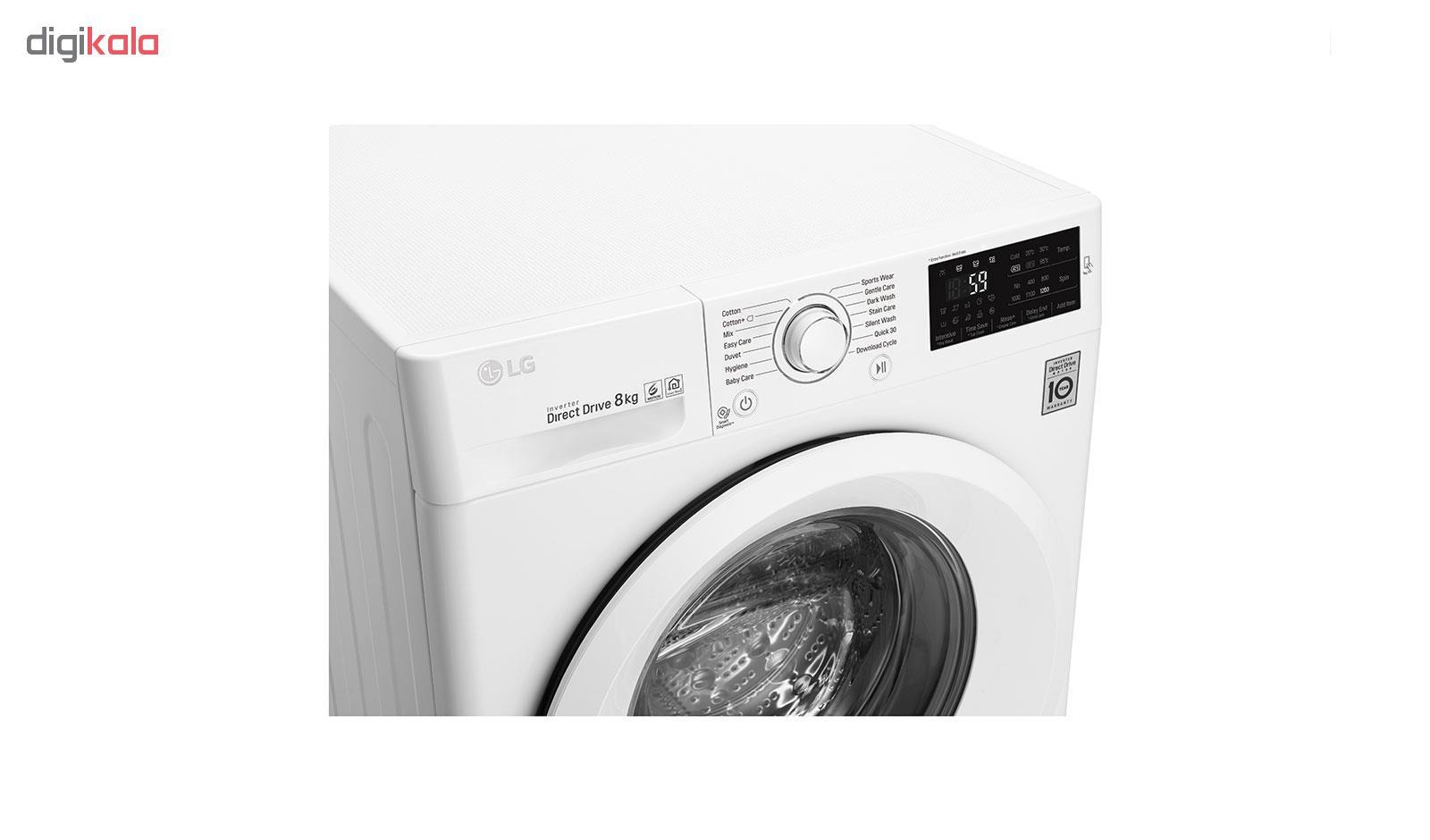 ماشین لباسشویی ال جی مدل WM-821NW ظرفیت 8 کیلوگرم
