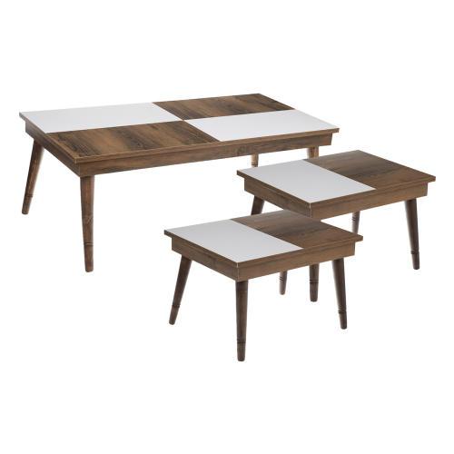 میز جلومبلی ویولت طرح 3 مجموعه 3 عددی