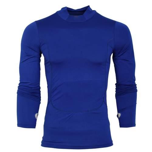 تیشرت آستین بلند ورزشی مردانه مدل N504 رنگ ابی