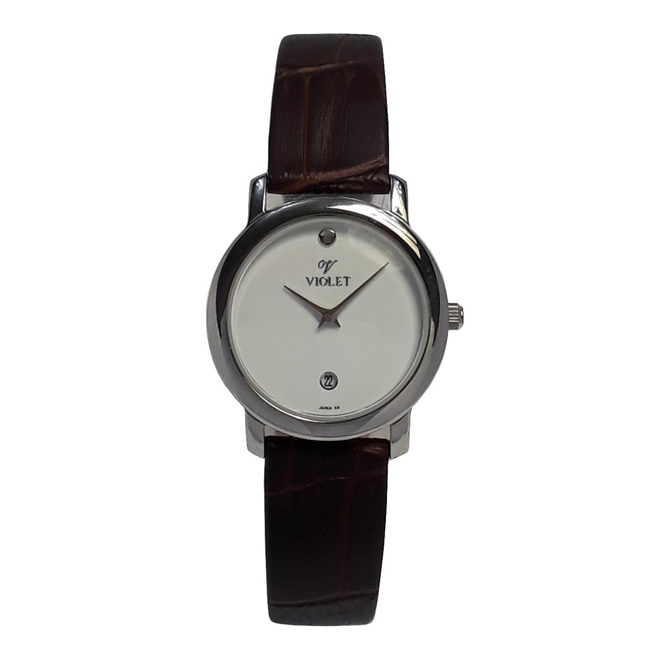 خرید ساعت مچی عقربه ای زنانه ویولت مدل 0272L-1LEATHER